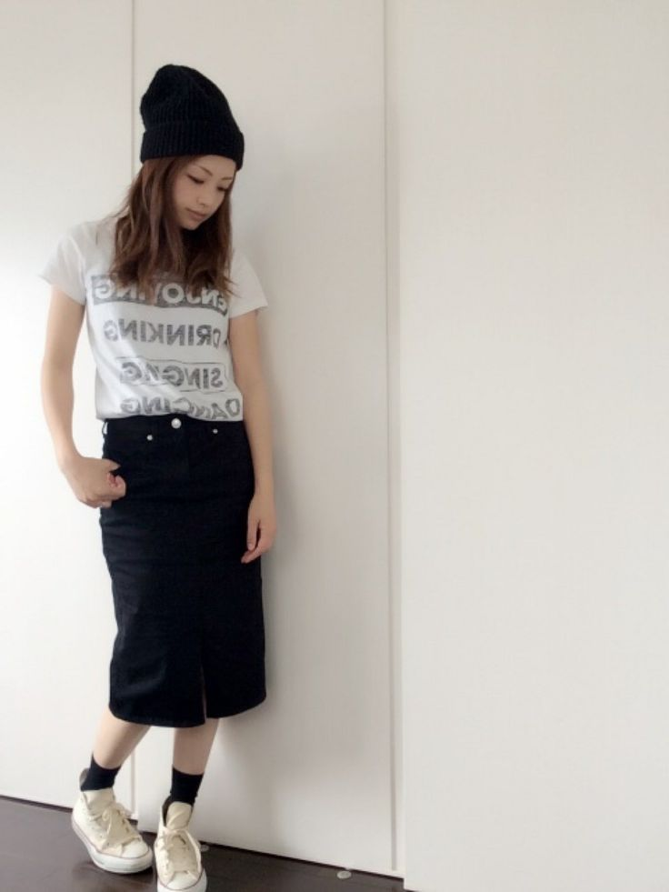 めんたろさんのWOMEN⁄スカート「GU (GU)ミドルタイトスカート」を使ったコーディネート