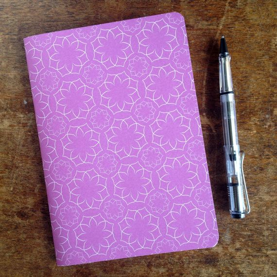 A5 paper journal/notebook featuring a pink by KatieMichelleDesigns