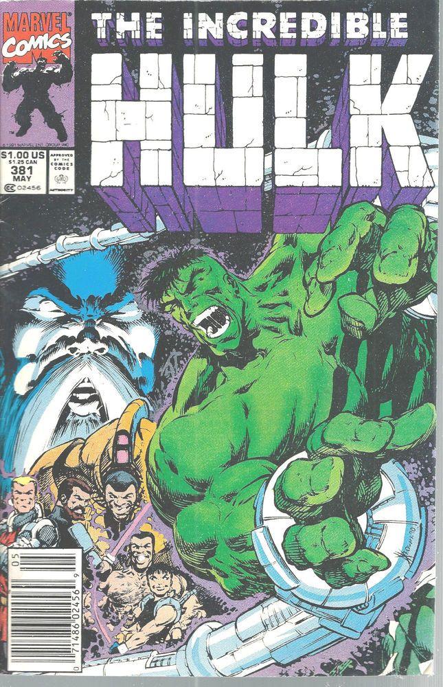 Incredible Hulk Marvel Comics Vol 1 No 381 May 1991