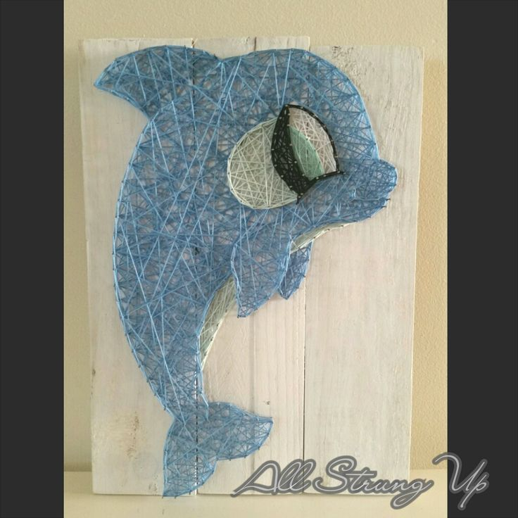 Dolphin String Art Made by hand with
