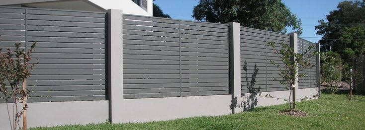 brick fence with timber slats - Google Search