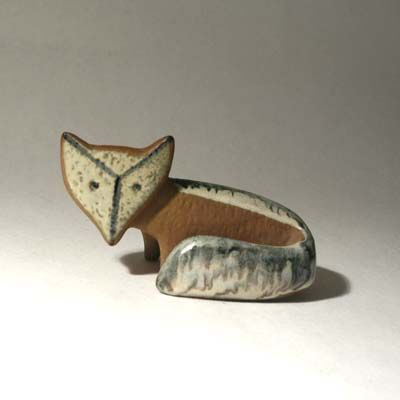 Lisa Larson. Ceramic fox.
