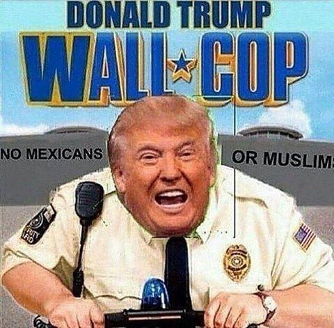 Wall Cop #WallCop #memes #Donald #trump #donaldtrump #donaldtrumpmemes #wall