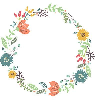 65 Best Images About Circle Frames Clipart Garland On