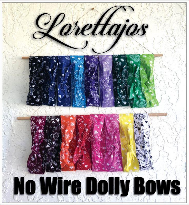 No Wire Dolly Bow Headband Bandana Fabric Rockabilly Pin Up Women Teen Girls Hair Accessory Headscarf Top Knot Headband by Lorettajos on Etsy