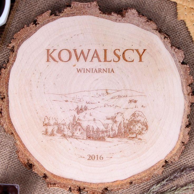 Personalizowany plaster drewna CHATA