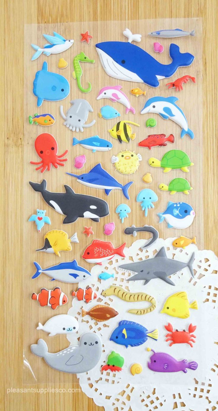 Sea Mammals Stickers for Planners & Scrapbook