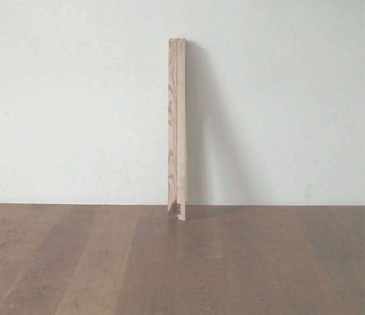 makers with agendas focus on flexibility with accordion table + stilt shelf - designboom | architecture & design magazine