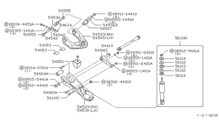 Nissan 720 4x4 Steering Suspension Diagram