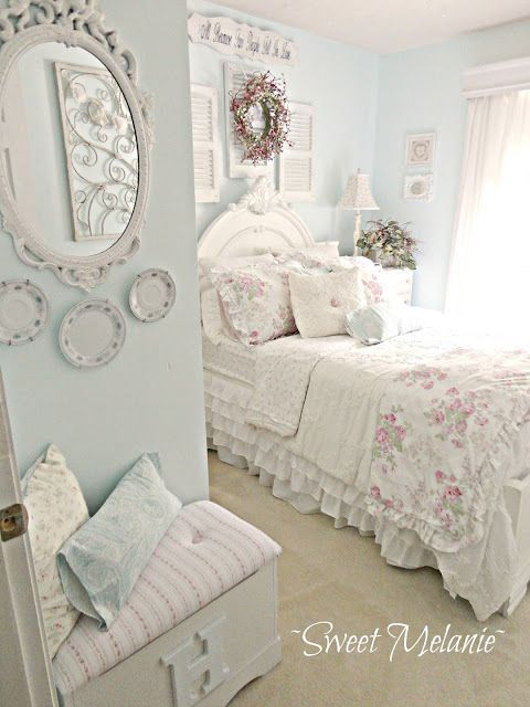m s de 25 ideas incre bles sobre rom ntico shabby chic en. Black Bedroom Furniture Sets. Home Design Ideas