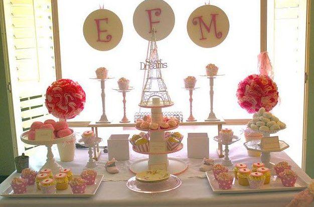 Paris Theme- dessert table