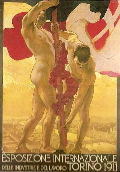 Metlicovitz Manifesto exposure Turin, 1911