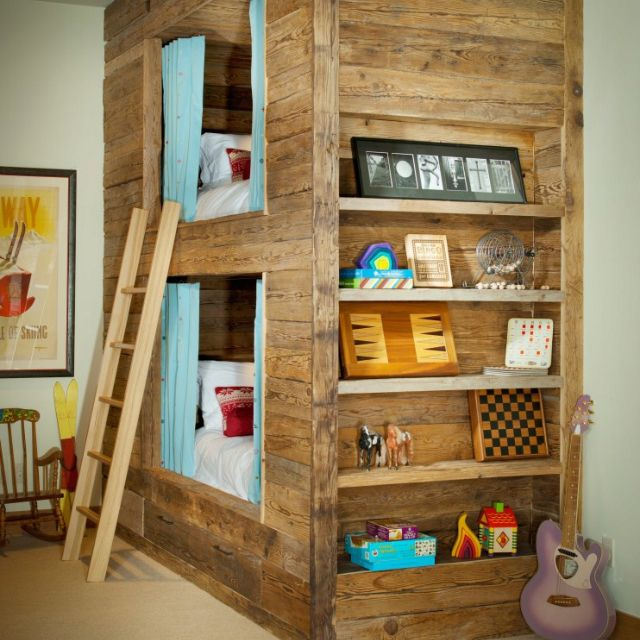 Cool bunk bed...
