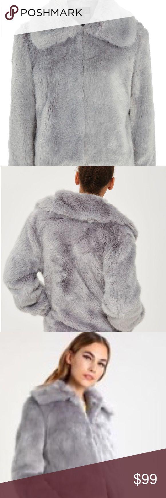 TOPSHOP FUR JACKET Almost brand new topshop grey fur jacket. Comfortable and super trendy Topshop Jackets & Coats