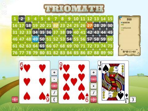 Recension av Trio Math - Spel för huvudräkning - Anmeldelse af IOS-app'en Trio Math