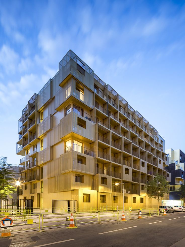 The Golden Cube Student Residence Project Is Situated On