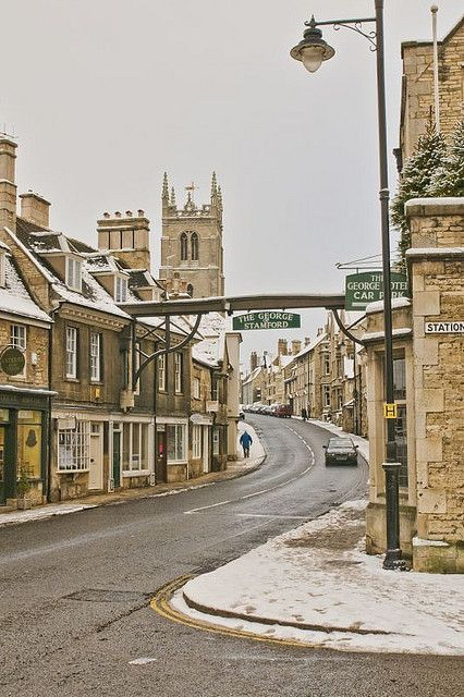 Stamford, Lincolnshire, in the snow
