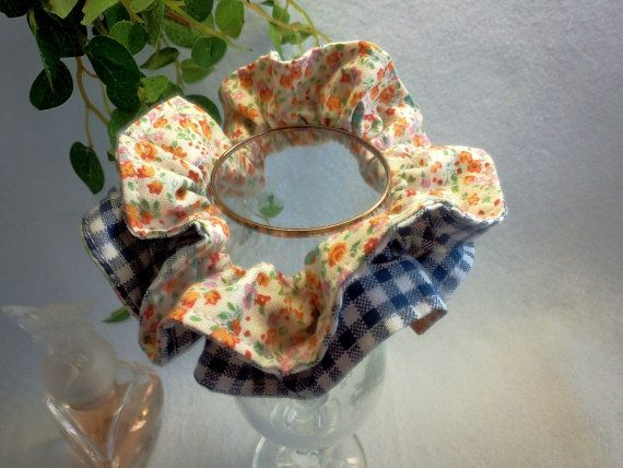 "Japanese hand kawaii shushu / Reversible and Frilled Scrunchy / Scrunchie - 3.9"" (10cm) / #9 by YuminaCafe, ¥500"
