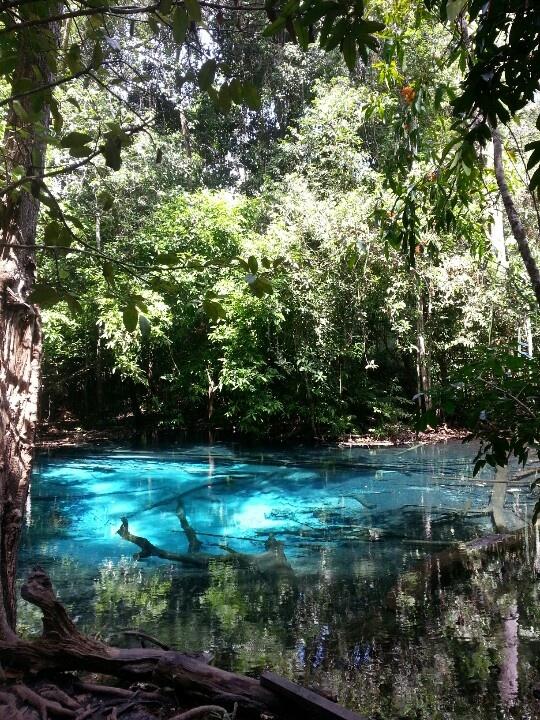 Blue lake Krabi Thailand