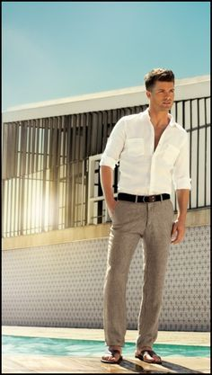 mens linen beach wedding attire - Mens Beach Wedding Attire for the Groom – Wedding and Bridal Inspiration Galleries