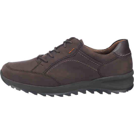 Die weit geschnittenen WALDLÄUFER Helle Freizeit Schuhe bestehen aus echtem Leder und sind an der Einstiegskante angenehm gepolstert. Die gepolsterte herausnehmbare Echtleder-Decksohle sorgt zusätzlich für einen hohen Tragekomfort.<br /> <br /> - Verschluss: Schnürverschluss<br /> - verstärkter Zehen- und Fersenbereich<br /> - vorne hochgezogene, flexible und profilierte Luftpolster-Laufsohle mit dämpfender und rutschhemmender Wirkung<br /&g...