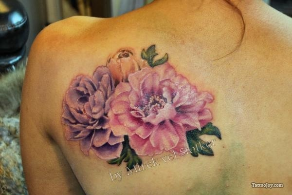 peony tattoos and designs peony tattoo meanings and ideas hydrangea violets and africans. Black Bedroom Furniture Sets. Home Design Ideas