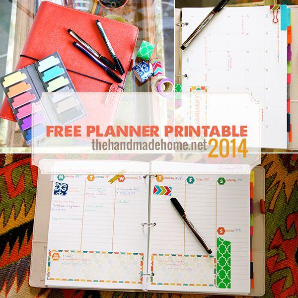 Free 2013 Planner - With Homeschool or School Bonus :: Hometalk