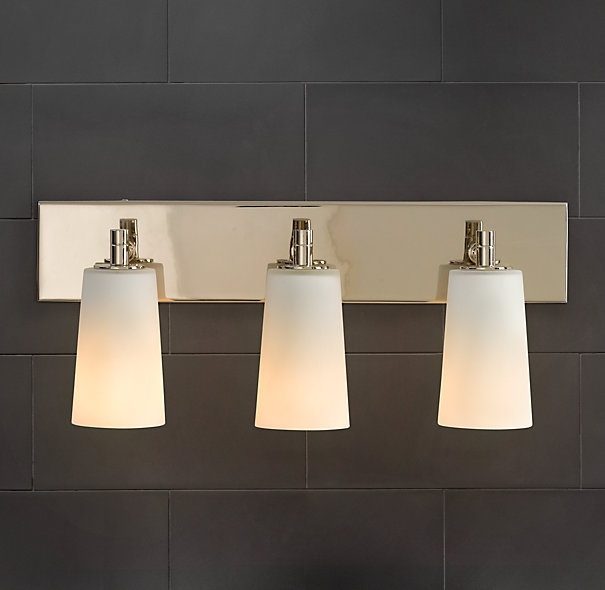 Updating Bathroom Vanity Lights : Restoration Hardware- Spritz Triple Sconce - bathroom vanity light Light Fixtures Pinterest ...