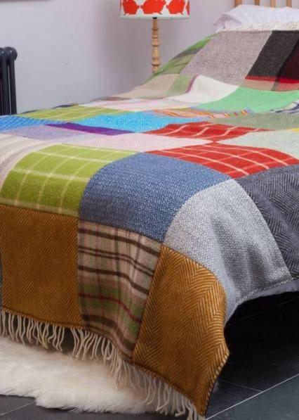 knitting blanket patchwork
