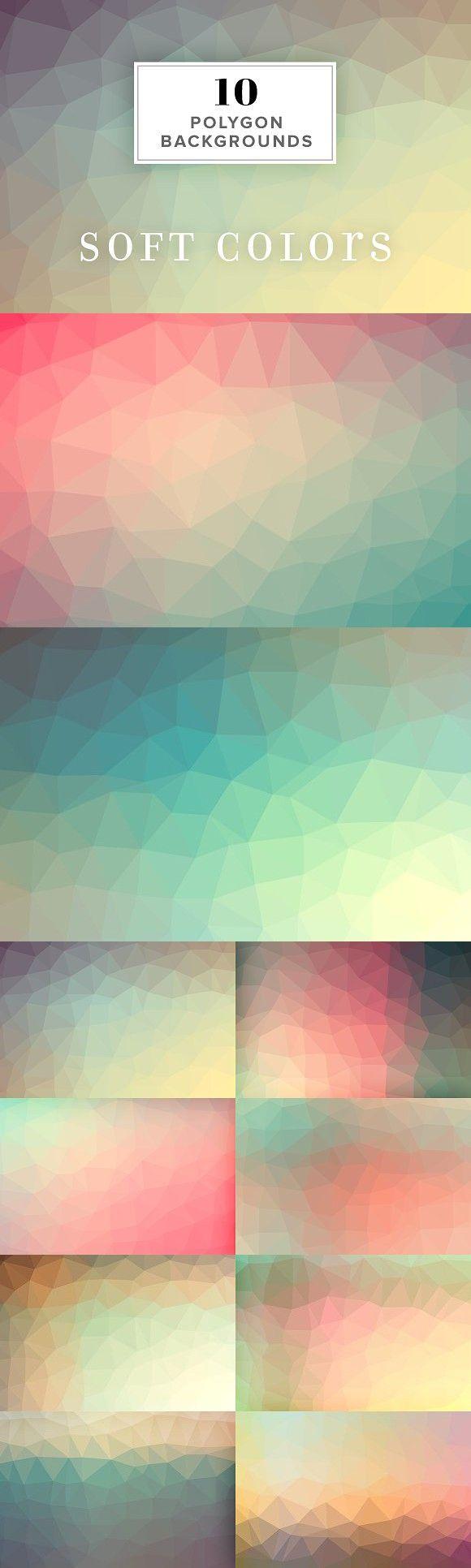 Website soft colors - 10 Polygon Backgrounds Soft Colors