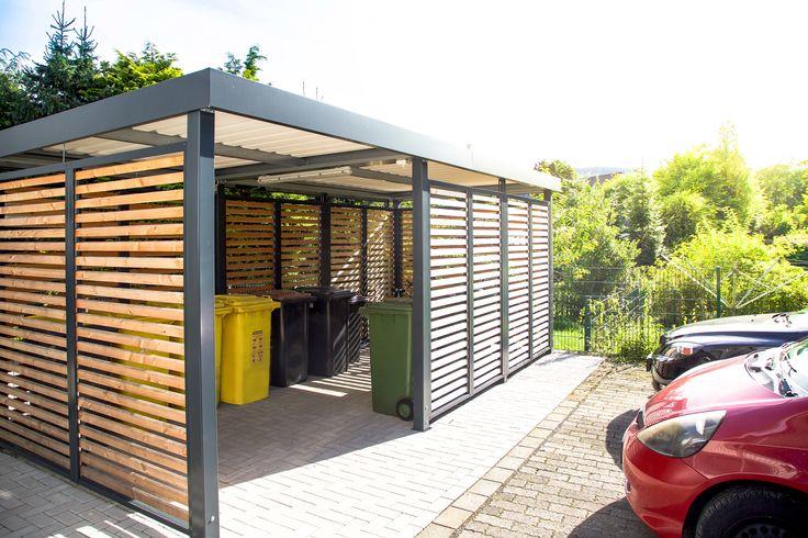 einhausung stellplatz f r m lltonnen und fahrr der carport einhausungen eingangs berdachung. Black Bedroom Furniture Sets. Home Design Ideas