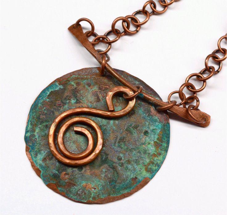 rustic copper pendant necklace tribal pn2434