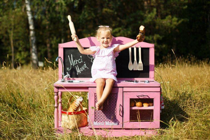 Купить Детская игровая кухня - детская комната, мебель в детскую, кукольный дом…