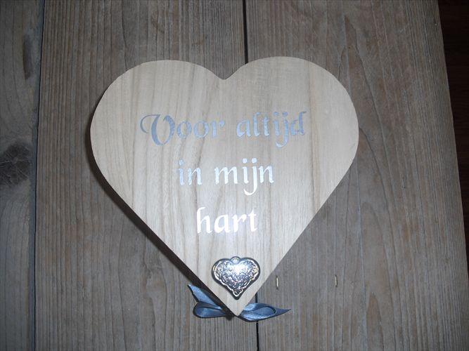 houten hartendoosje met tekst
