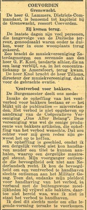 Tandarts Knol terug uit Kamp Amersfoort. Dat was vroeger 'mijn' tandarts...