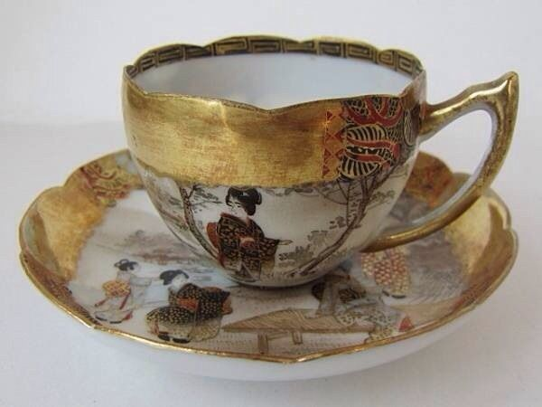 Old Nippon Cup and Saucer 1990'c
