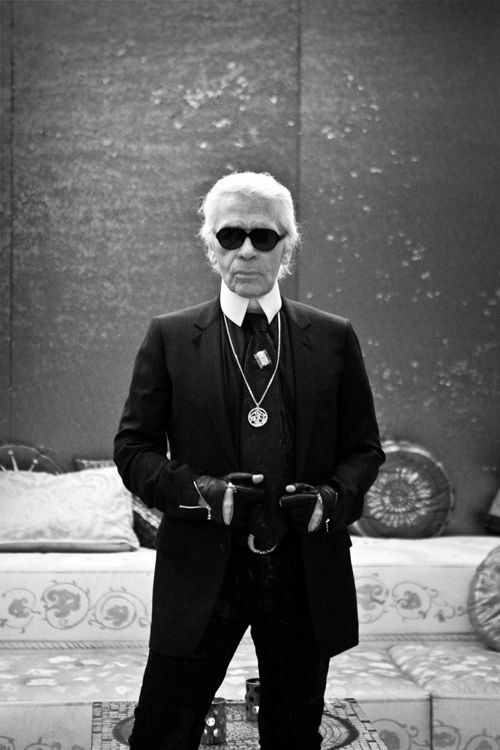 Karl Lagerfeld. Photography by James Bort