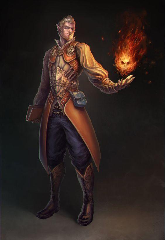 Half-Elf Sorcerer - Pathfinder PFRPG DND D&D d20 fantasy