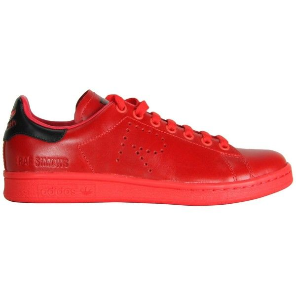 Adidas by Raf Simons Red Sneakers (7.135 RUB) ❤ liked on Polyvore featuring shoes, sneakers, red, adidas trainers, adidas, adidas shoes, adidas footwear and red shoes