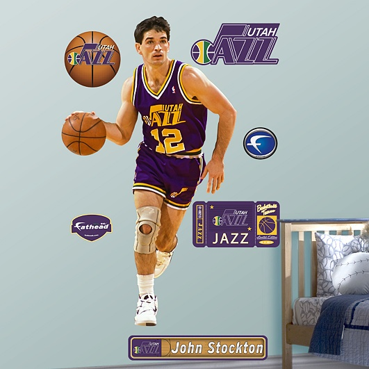 John Stockton, Utah Jazz: Fav Sports, Gotta, Golden States Warriors, Fathead Wall, Graphics, National Fathead, Nba Fathead, Nba Playoffs, Basketball Realsocc