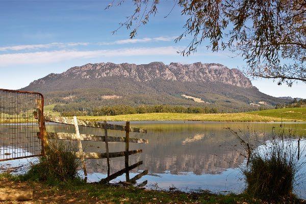 Mount Roland reflections in a farm dam ©Carol Haberle