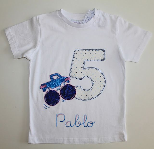 cocodrilova: camiseta cumpleaños monster track  #camisetacumpleaños #cumpleaños #5años #hechoamano #camisetaspersonalizadas   camiseta-cumpleaños-5años-monster jam