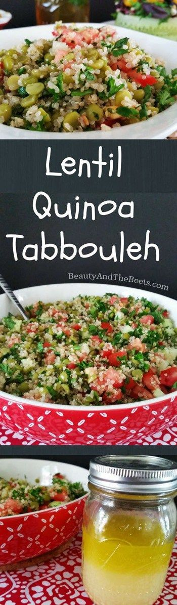 Beauty and the Beets Lentil Quinoa Tabbouleh insta