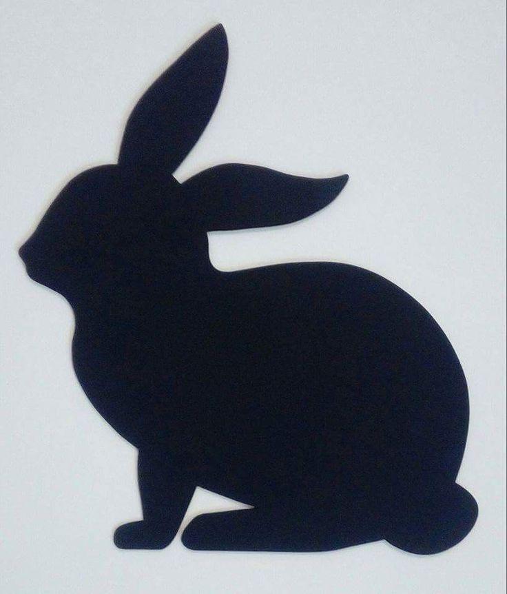Dessine moi une ardoise silhouette lapin mémo bois chantourné et peinture