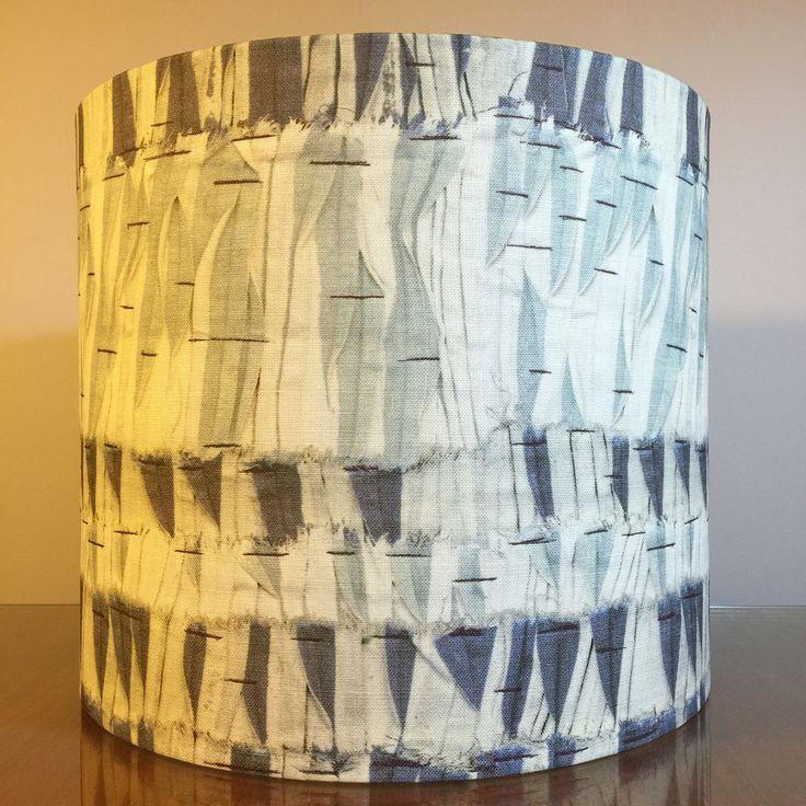 Stunning custom lampshade in the beautiful @christopherfarrdesign 'Willow - Indigo' fabric for a customer. Check out the #christoperfarrcloth range at @ascraft_textiles #lampshades #lampshade #customlampshades #lighting #decor #homedecor #design #interiordesign #textiles #handmade #australianmade #custom #linen #redfern #ascraft #grahamandgraham