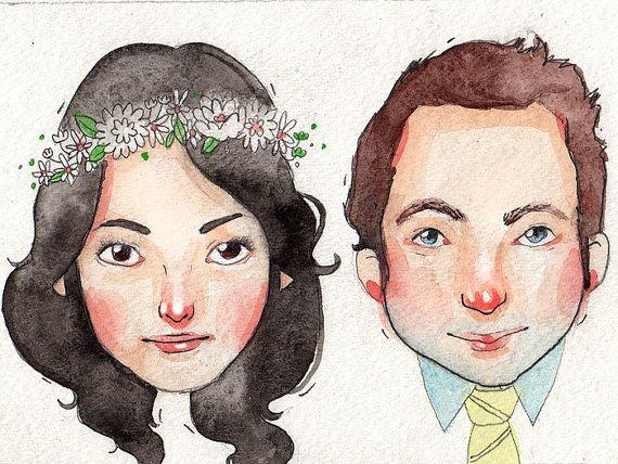 Personalized Watercolor Portrait / Original Art by dannybrito