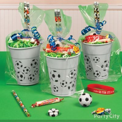 Fill party cups with pieces of the action!