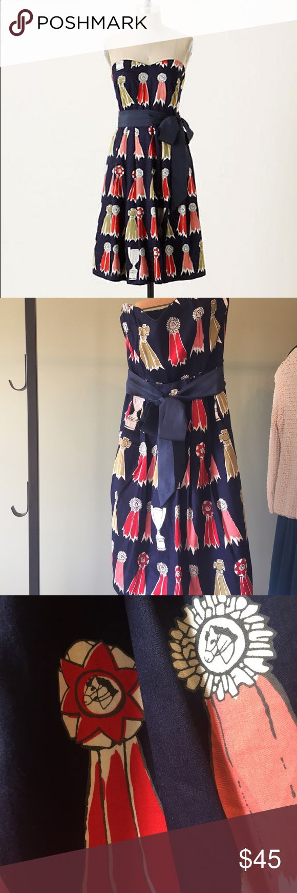 Anthropologie Highest Accolades Dress We Love Vera from Anyhropologie. This Dress is called Highest Accolades. Stunning! Worn once for a Kentucky Derby party. Now it's your chance! Size 4, but could fit a small 6 as well. Anthropologie Dresses Strapless