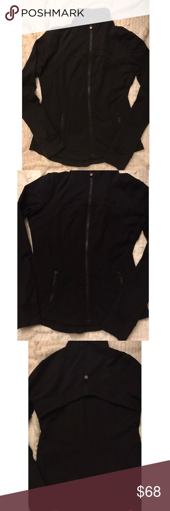 Lululemon Black Define Jacket Lululemon black define jacket. Such a flattering fit and the perfect addition to your workout gear or any athleisure outfit! Size 10 pre-loved with some minimal signs of wear (please reference photos!) like pilling under one of the underarms, but this jacket still looks great with so much life left in it! lululemon athletica Jackets & Coats