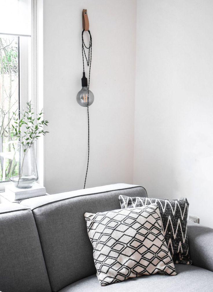 DIY Snoerboer lamp aan lederen lus - DIY lamp | KARWEI 1-2018